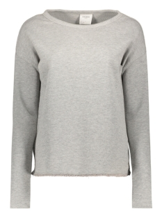 Vero Moda Trui VMAVA LS SWEAT DMN SWT 10174975 Light Grey Melange
