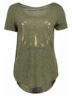Vero Moda T-shirt VMLUA FOIL BUTTERFLY SS TOP DNM JRS 10174661 Ivy Green/ Foil Butter