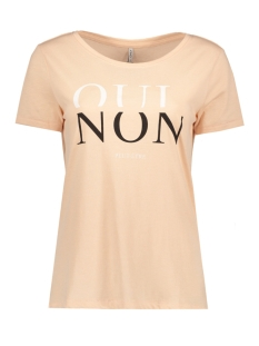 Only T-shirt onlCOTTON REG S/S VOGUE/QUI TOP BOX 15133419 Cameo Rose/ Qui