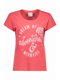 Vero Moda T-shirt VMBELLA ADVENTURE SS TOP BOX DNM 10174529 Hibiscus/ Adventures