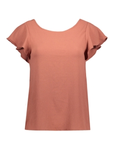 Vila T-shirt VIALDA TOP 14039873 Brick Dust