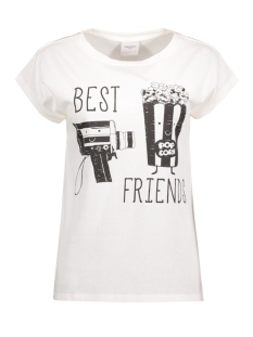 Vero Moda T-shirt VMNANA PRINT SS TOP BOX DNM JRS 10174539 Snow White/ Best Friend