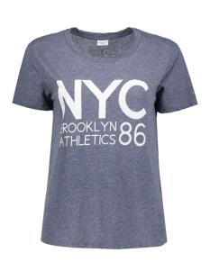 Jacqueline de Yong T-shirt JDYCELESTE S/S PRINT TOP JRS 15127377 Mood Indigo/ NY