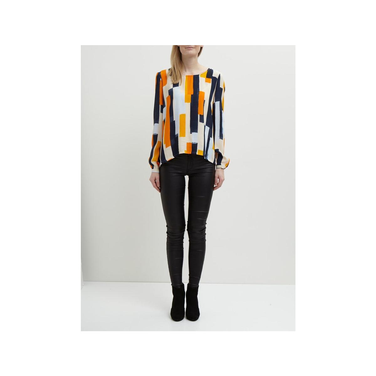 vinaly l/s back detail top 14041709 vila blouse total eclipse/combo