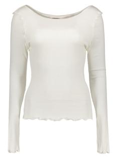 Vero Moda T-shirt VMRITA REVERSE L/S BOATNECK TOP NFS 10178903 Snow White