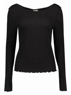 Vero Moda T-shirt VMRITA REVERSE L/S BOATNECK TOP NFS Black