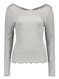 Vero Moda T-shirt MRITA REVERSE L/S BOATNECK TOP NFS 10178903 Light Grey Melange