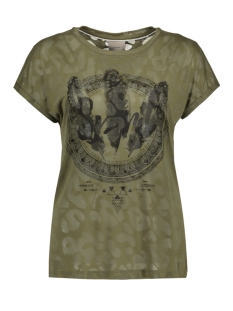 Vero Moda T-shirt VMANIMAL BURNOUT S/S T-SHIRT D2-3 10177633 Ivy Green
