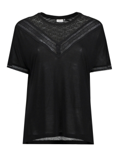 Jacqueline de Yong T-shirt JDYCARLY S/S LACE TOP JRS AKR 15130013 Black/ DTM Lace