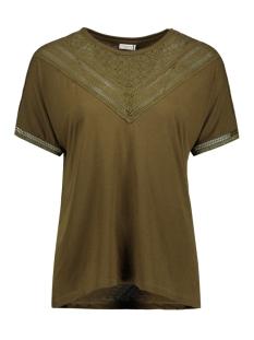 Jacqueline de Yong T-shirt JDYCARLY S/S LACE TOP JRS AKR 15130013 Dark Olive/ DTM Lace