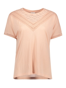 JDYCARLY S/S LACE TOP JRS AKR 15130013 Cameo Rose/ DTM Lace