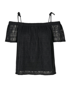 NMANNA S/S SLEEVE LACE TOP 3 10176751 Black