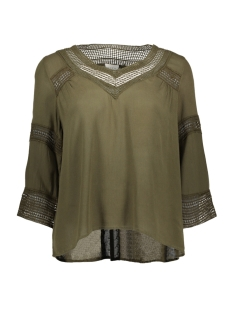 Vila T-shirt VICARRIE 3/4 SLEEVE TOP GV 14041168 Ivy Green