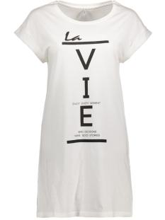 onlGROOVY S/S T-SHIRT DRESS BOX ESS 15135724 Cloud Dancer/ Vie