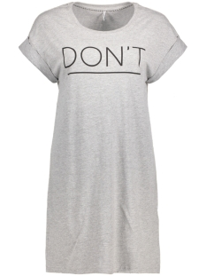 Only Jurk onlGROOVY S/S T-SHIRT DRESS BOX ESS 15135724 Light Grey Melange/ Don`t