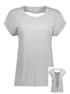 Only T-shirt onlABBIE S/S LASERCUT TOP ESS CS 15136400 Light Grey Melange