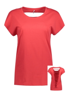 Only T-shirt onlABBIE S/S LASERCUT TOP ESS CS 15136400 Poinsettia