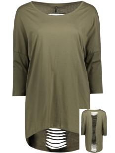 Only T-shirt onlABBIE 3/4 LASER CUT TOP ESS RP1 15136402 Kalamata