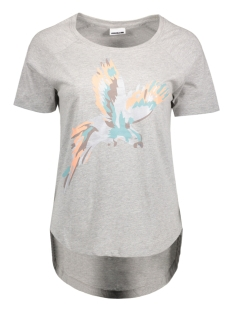 Noisy may T-shirt NMPETER S/S  TOP 16-2 10173453 Light Grey Melange