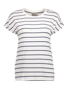vmcharly stripe/dot o-neck ss top noos 10178234 vero moda t-shirt snow white/black iris