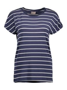 Vero Moda T-shirt VMCHARLY STRIPE/DOT O-NECK SS TOP NOOS 10178234 Black Iris/Snow White