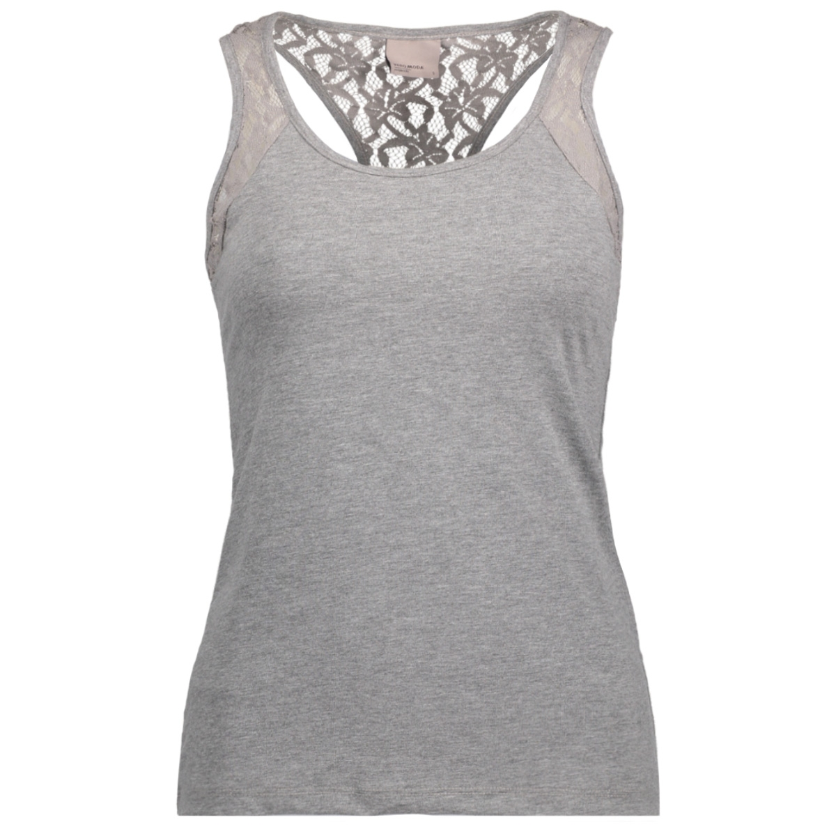 vmmaxi my soft lace boxer top noos 10170567 vero moda top medium grey melange