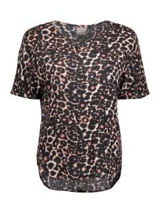 Vero Moda T-shirt VMNOW SS MIDI TOP A 10175009 Peach Whip/Lia Print