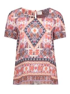 Vila T-shirt VINATIVO S/S TOP 14041549 Hot Coral