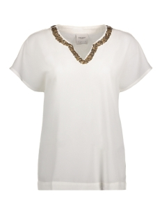 Vero Moda Blouse VMCAROL WIDE S/S MIDI TOP 10177471 Snow White/Solid