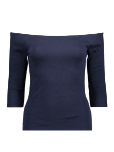 Vero Moda T-shirt VMBAL OPENSHOULDER 3/4 TOP 10177611 Black Iris