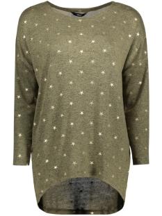 Only T-shirt onlMELIA 3/4 TOP JRS 15140214 Kalamata/ Gold Foil