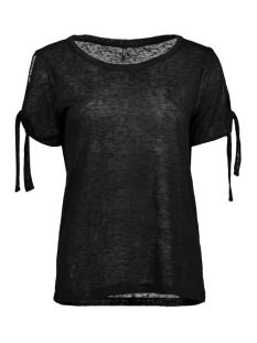 Only T-shirt onlCAMILLA S/S BOW TOP ESS 15134893 Black