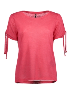 Only T-shirt onlCAMILLA S/S BOW TOP ESS 15134893 Teaberry