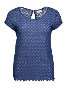 Vila T-shirt VIMARTHA S/S TOP 14039999 Estate Blue