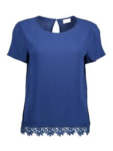 Vila T-shirt VIISADORA S/S TOP Estate Blue