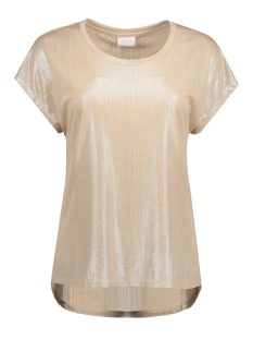 Vila T-shirt VIPOL S/S TOP /1 14043057 Frosted Almond