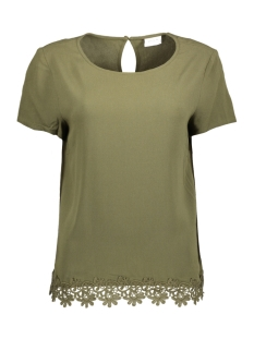 Vila T-shirt VIISADORA S/S TOP 14041395 Ivy Green