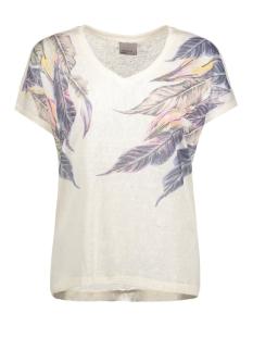 Vero Moda T-shirt VMOTILLA SS WIDE TOP BOX DNM JRS 10176999 Snow White/Palm Tree