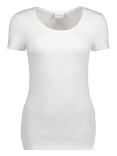 Vila T-shirt VIOFFICIEL S/S NEW TOP-NOOS 14040376 Optical Snow
