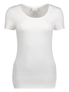 Vila T-shirt VIOFFICIEL S/S NEW TOP-NOOS 14040376 Optical Snow