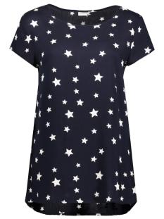 Jacqueline de Yong T-shirt JDYMARLEY S/S TOP WVN 15137658 Night Sky/White Star