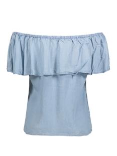 Vila T-shirt VIGIA OFF SHOULDER TOP 14041501 Light Blue Denim