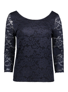 Vila T-shirt VIFILIA 3/4 SLEEVE TOP 14040184 Total Eclipse