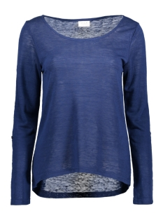 Vila T-shirt VISUMI L/S TOP GV 14040676 Estate Blue