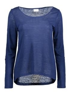 Vila T-shirt VISUMI L/S TOP GV 14040676 Estate Blue