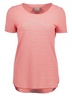 Vero Moda T-shirt VMADDISON SS TOP DNM JRS A 10177003 Snow White/Hibiscus
