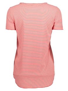 vmaddison ss top dnm jrs a 10177003 vero moda t-shirt snow white/hibiscus