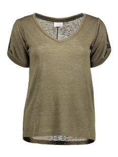 Vila T-shirt VILAURAN S/S T-SHIRT 14041367 Ivy Green