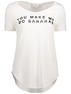 Vero Moda T-shirt VMLUA SIMPLY SS TOP BOX DNM JRS 10176810 Snow White/ You Make