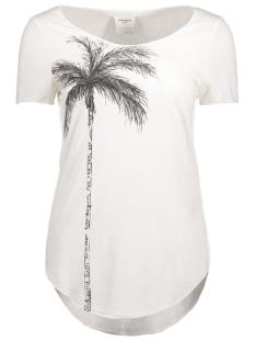 Vero Moda T-shirt VMLUA SIMPLY SS TOP BOX DNM JRS 10176810 Snow White/Palm
